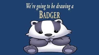 How to Draw a Cute Little Badger | Easy Drawing | ArtNinja