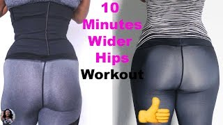 10 MIN WIDER HIPS WORKOUT|How to Get Wider Hips (5 Exercises for Wider Hips) fix Hip dips/Large hips