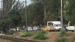 Авто полиции попало в ДТП и затормозило движение на Приморском бульваре