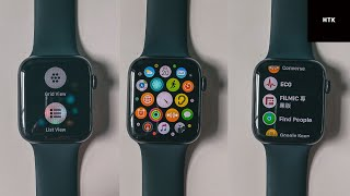 How To Change Icon Layout on Apple Watch Series 5 (List/Grid View) & How To Take Screenshots