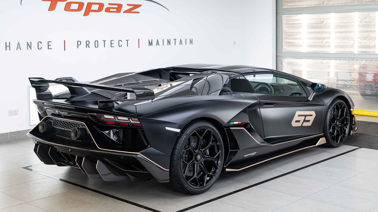 First Lamborghini Aventador SVJ 63 Roadster: Paint Protection Film
