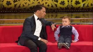 Трехлетний шахматист Михаил Осипов против чемпиона Анатолия Карпова. Телевизионное Шоу