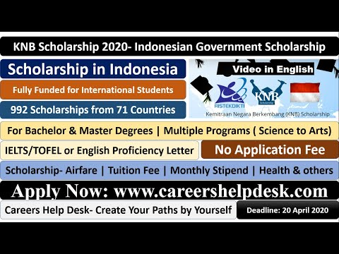 KNB Scholarship 2020   Indonesian Government Scholarship  Fully Funded   Submission in English