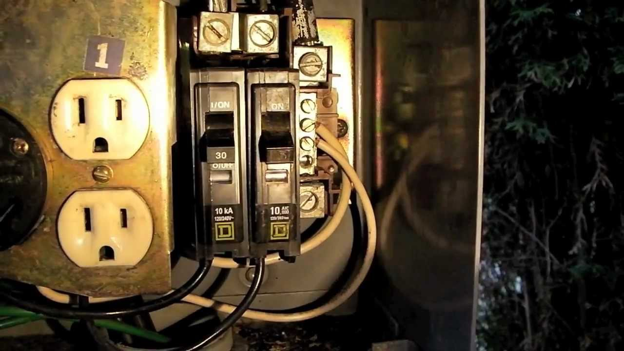 Circuit Breaker Panel Wiring Diagram 3 Phase Converter How To Replace A On An Rv Power Pedestal Youtube