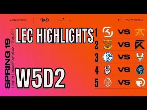 LEC Highlights ALL GAMES Week 5 Day 2 Spring 2019 League of Legends European Championship thumbnail