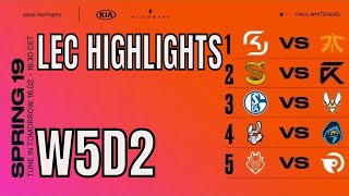 LEC Highlights ALL GAMES Week 5 Day 2 Spring 2019 League of Legends European Championship