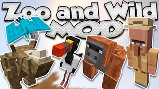 Zoo & Wild Animals para minecraft 1.8 añade hasta 40 nuevos animale...