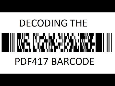 How to decode a PDF417 Barcode