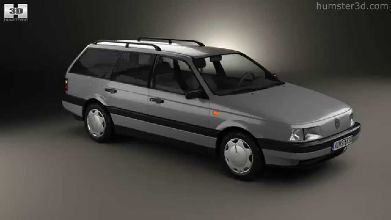 volkswagen passat b3 variant 1988 by 3d model store youtube. Black Bedroom Furniture Sets. Home Design Ideas