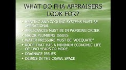FHA Appraisals--Do not be scared!