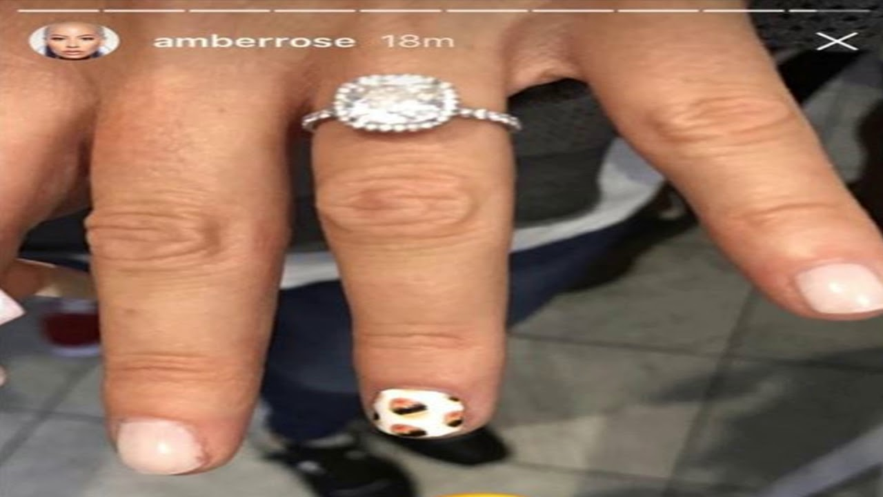 Amber Rose And 21 Savage Are Engaged Engagement Ring Is Full Of