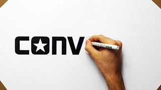 How to draw Converse #2 Logo - All Stars Fan Art Speed Drawing Como Desenhar