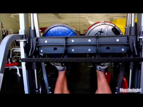 Phil Heath Using The Vertical Leg Press Machine