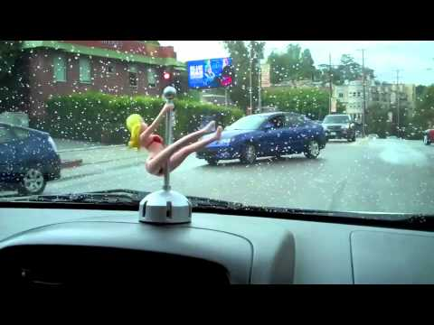 Dashboard Pole Dancer From Stupid.com Goes For A Ride!
