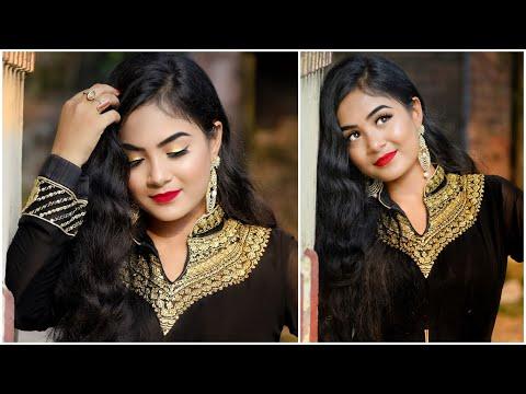 Eid Makeup Tutorial 2019 | Glowing Glam Makeup | Step by Step Makeup in Hindi thumbnail