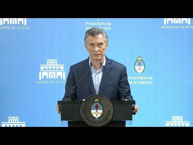 """Macri dijo que el acuerdo con el FMI """"es para asegurar el futuro de los argentinos"""""""