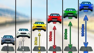 Dropping Сars from Different Heights - Beamng drive