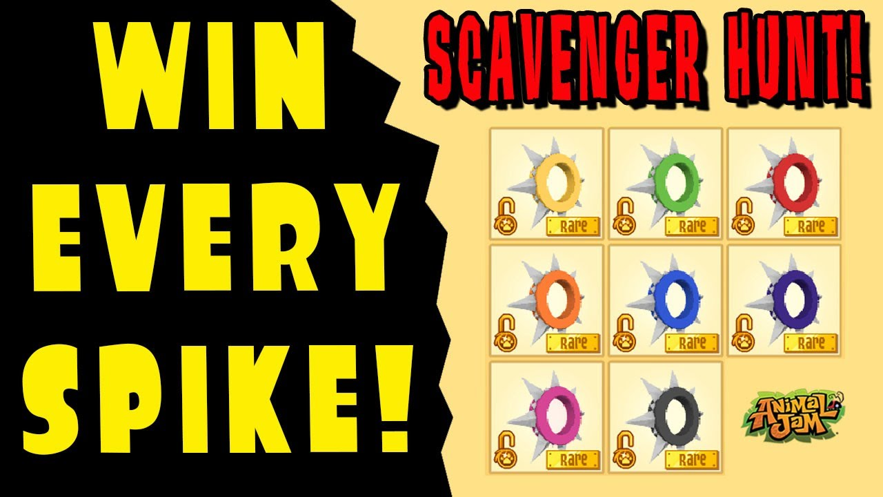 Scavenger Hunt: Win Every Long Spiked Collar NOW! Animal Jam (ENDED)