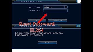 Reset Password DVR H.264 Working 100%