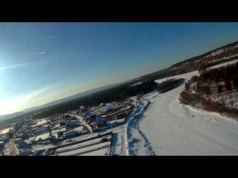 Иркут, село Баклаши. Съемка с квадрокоптера. Зима.