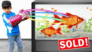 Infinity Gauntlet and Fish funny kids video with Jason