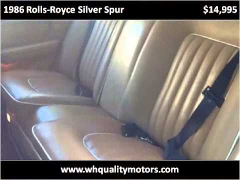 1986 rolls royce silver spur used cars woodland hills ca for Woodland motors used cars