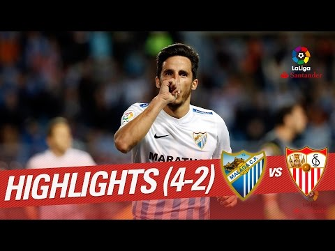 Resumen de Málaga CF vs Sevilla FC (4-2)