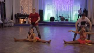 Зажигательный танец от двух ярких пар. Бразильский зук и самба