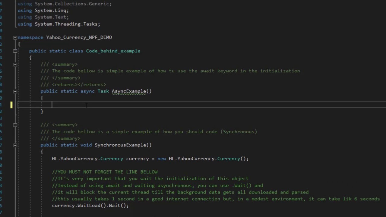 HL YahooCurrency  NET Currency conversion API - C#