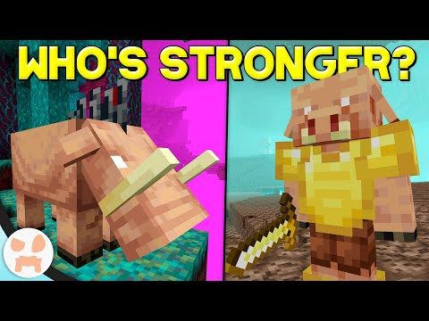 1000 PIGLINS Vs 1000 HOGLINS - Who Would Win? | Minecraft 1.16 Nether Update