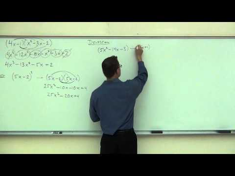 Intermediate Algebra Lecture C.4:  A BRIEF Review of Polynomial Mathematics