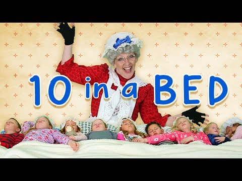 Ten in the Bed  Nursery Rhyme  Counting Song  Educational  Family Friendly Songs