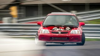 homepage tile video photo for RWD CIVIC second time at the track! (First major issue with the car)