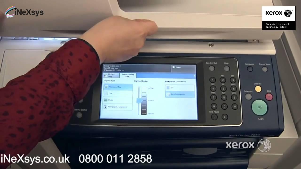 ID Card Scan - Xerox WorkCentre 78 Series C8030 C8035 C8045 C8055 C8090