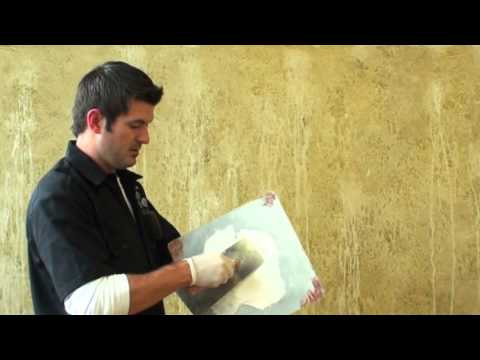 Faux Painting Distressed Plaster Youtube