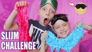 BLIND SLIJM MAKEN! [Blindfolded Slime Challenge] ♥DeZoeteZusjes♥