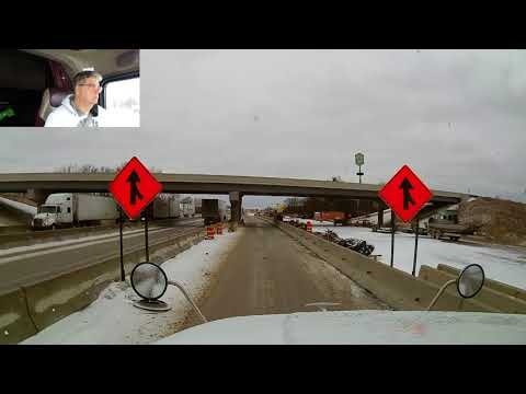 #201 ICY ROADS The Life of an Owner Operator Flatbed Truck Driver Vlog