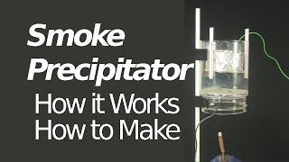 Repeat youtube video Electrostatic Precipitator/Smoke Precipitator - How it Works/How to Make