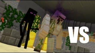 Iron Golem Vs Enderman (Minecraft Animation)