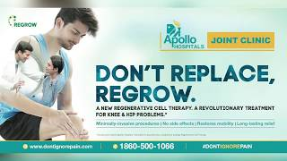 Dr KJ Reddy, renowned Orthopaedician from Apollo Hospitals talks on Regenerative Cell Therapy