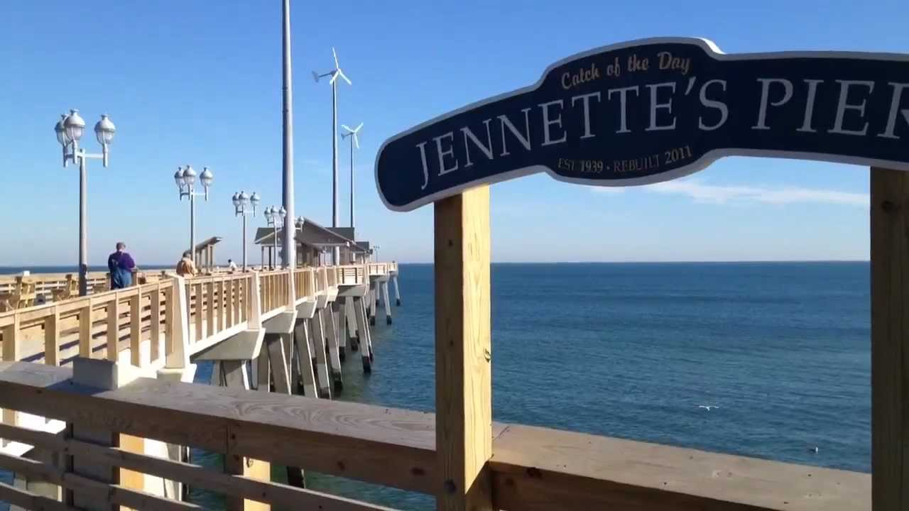 Outer banks gorgeous winter day at jennette 39 s pier youtube for Jennette s fishing pier