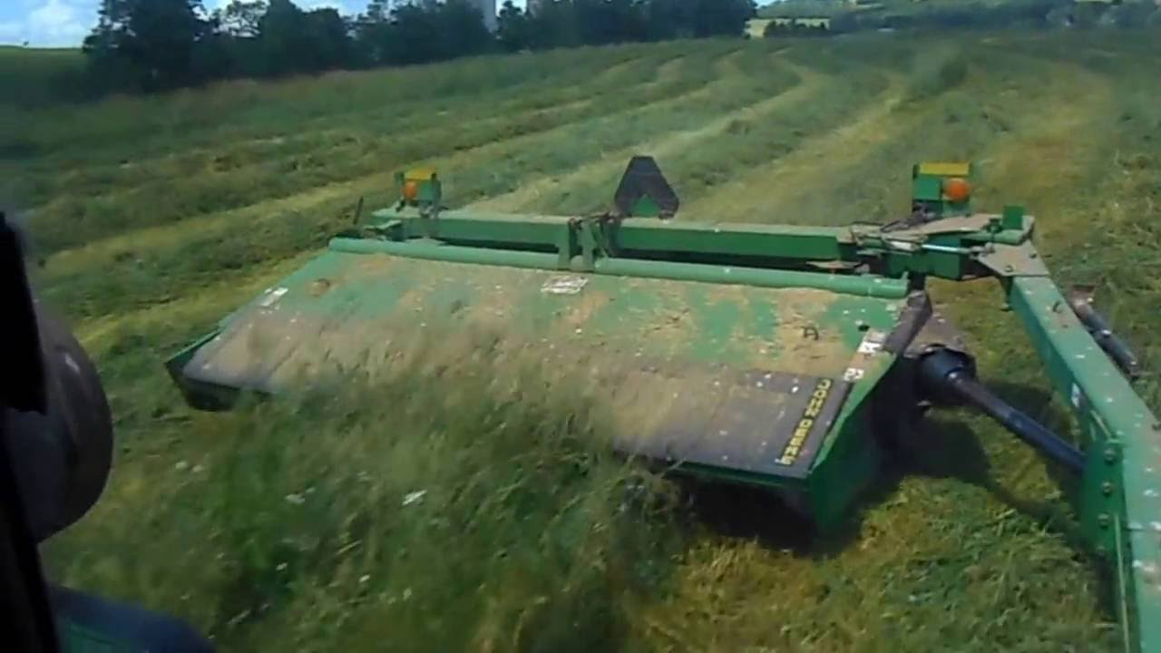 mowing with jd 4840 and jd 936 moco mower (re uploaded)