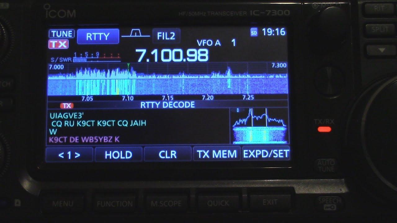 Working RTTY Contest Using Icom IC 7300 Only Ham Radio