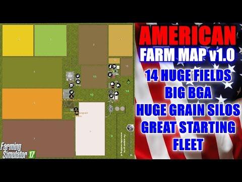"Farming Simulator 17 - American Farm Map v1.0 ""Map Mod Review"""
