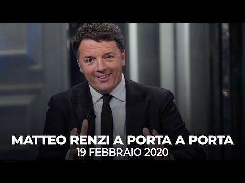 Matteo Renzi ospite a Porta a Porta | 19/02/2020