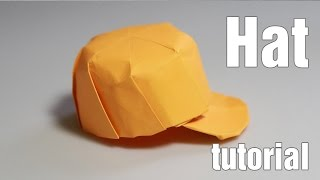 Origami Hat - Snapback tutorial with diagram - DIY (Henry Phạm)