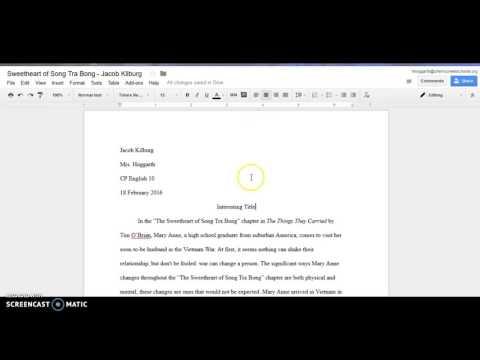 MLA Formatting + Header/Heading