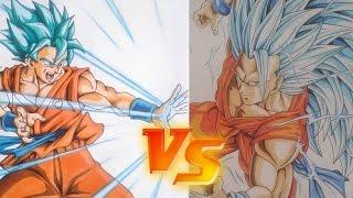 Como Dibujar a GOKU Super saiyan Blue DIBUJAME UN vs TOLG ART. how to draw Goku Sssj Blue