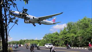 Plane Spotting Ngurah Rai Airport Bali, Nonton Pesawat Terbang Landing Dan Take