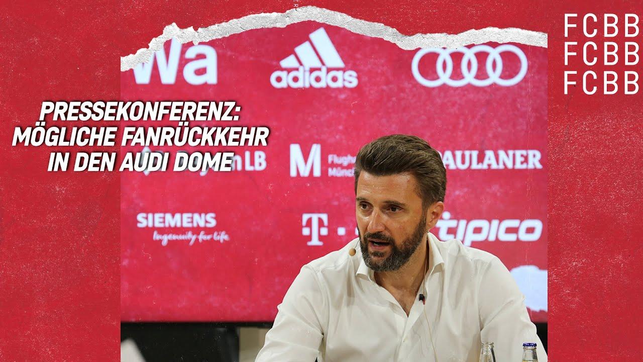 PK   Marko Pesic und Dr. Florian Kainzinger   Mögliche Fanrückkehr in den Audi Dome